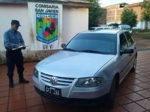 San Javier: secuestraron automóvil involucrado en un robo calificado y detuvieron a su conductor