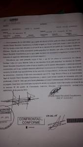 El juez de Paz de Andresito sigue atrincherado en el terreno fiscal usurpado