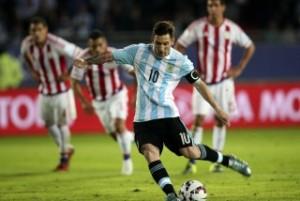 """Messi:  """"Creo que hicimos un gran primer tiempo y es el camino"""""""