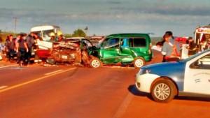 Cuatro muertos en un choque frontal en la localidad de Dos de Mayo