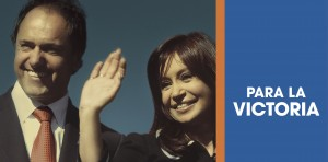 """Nuevo afiche de Cristina Fernández de Kirchner y Scioli: """"Para la Victoria"""""""