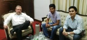 Estudiantina 2015: dirigentes de APES se reunieron con Jorge Franco