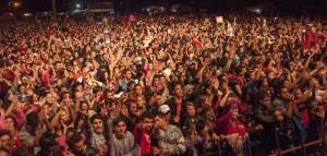"""""""El Polaco"""" y la banda """"San Marino"""" ante 15.000 personas en el Festival """"Música x Todos"""" de San Pedro"""