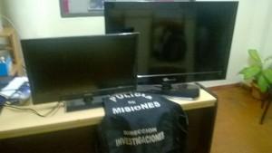 Encontraron dos LCD abandonados que habían sido robados en Posadas