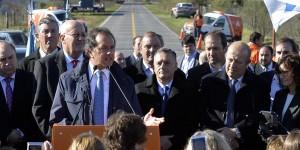 Scioli inauguró obras de repavimentación en ruta de Buenos Aires