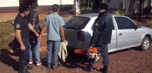 Dos detenidos por robar una motosierra en Aristóbulo del Valle