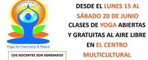 Se realizará una serie de jornadas para celebrar el Día internacional del Yoga
