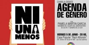 Hoy darán una charla-debate sobre la agenda de género