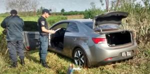 Encontraron abandonado un auto robado en Jardín América
