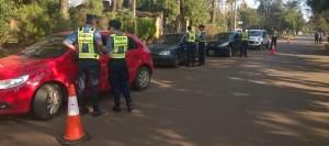 Cadetes policiales realizaron prácticas con efectivos de la Dirección General de Seguridad Vial