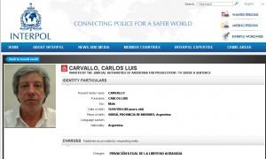 La INTERPOL libró un pedido de captura internacional contra Carlos Carvallo
