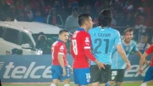 Se hizo justicia: Jara afuera del torneo por su accionar desleal contra Cavani