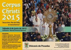 Hoy se realiza la fiesta del Corpus Christi en Posadas
