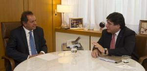 Scioli se reunió con Zannini para coordinar agenda