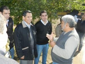 Franco y Arrúa recorrieron obras de asfalto sobre empedrado en Posadas