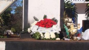 Guaraní cumplió hoy 83 años y lo recordó con una ofrenda floral en La Piedad