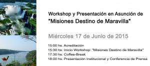 Presentación del Destino Misiones en Asunción se pospuso para el miércoles 17
