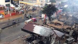 Explotó una estación de servicio en Ghana: hay casi 100 muertos