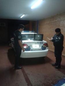 Delincuente huyó luego de arrojar un televisor robado en Posadas