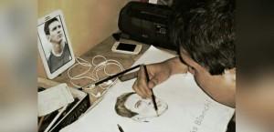 Gabriel Bianchi, el dibujante misionero que difundió C5N, expone en Paseo 220