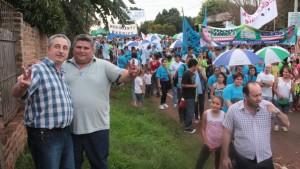 Passalacqua participó de caminatas con candidatos a intendente de Posadas