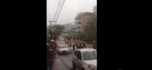 Tormentas en la región: tres casas fueron arrastradas por el agua en el oeste de Santa Catarina