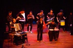 Gurises al Teatro arrancó al son de los tambores en el Vicente Cidade