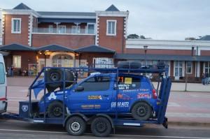Están llegando los primeros autos del Rally Argentino a Posadas