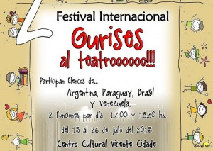 "Esta tarde pone primera el festival internacional ""Gurises al Teatro"""