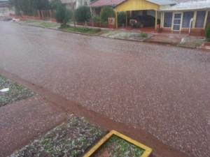 Video: ahora una nueva granizada se desató en Andresito