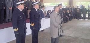 Franco presidió el acto por el 205° aniversario de la Prefectura Naval Argentina