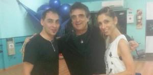El misionero Luis Marinoni, después de la bienvenida al Papa se sumó al Bailando como coach de Nito Artaza