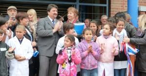 Closs inauguró obras de ampliación en la Epet 12 de San Ignacio y en la Escuela 719