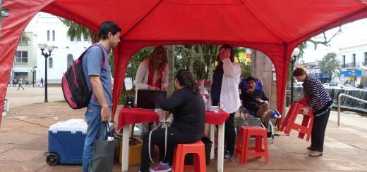 Hasta el viernes harán campaña de donación de sangre en la plaza 9 de Julio de Posadas