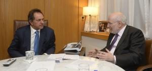Scioli analizó con Blejer la situación en Grecia