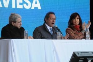 Scioli inauguró la ruta 6 en Buenos Aires, junto a la Presidente