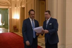 Scioli envió a la Legislatura el proyecto de paritarias para el poder Judicial bonaerense