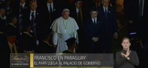 #FranciscoenParaguay: el Papa está reunido con el presidente Cartes
