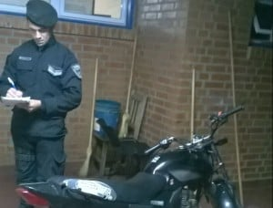 Comando Oeste secuestró una motocicleta de dudosa procedencia