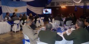 """Cena de camaradería en el Liceo Naval Militar """"Almirante Storni"""""""