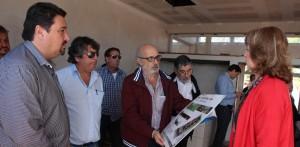 Closs y Jacobo visitaron obras de la EPET 4 y del jardín maternal en el barrio Santa Rosa de Iguazú