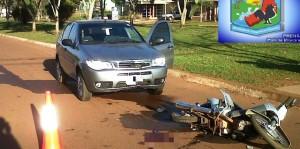 Detuvieron a automovilista alcoholizado tras protagonizar choque que dejó una motociclista herida