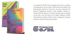 Nuevos libros serán presentados en Osde