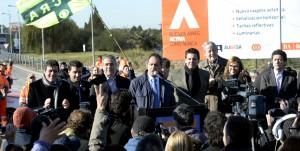 Scioli inauguró una nueva bajada de la autopista Buenos Aires – La Plata