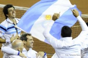 Argentina cerró con un 4-1 la serie de Copa Davis frente a Serbia