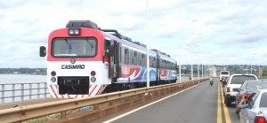 #FranciscoenParaguay: Funciona con normalidad el servicio de tren las 24 horas