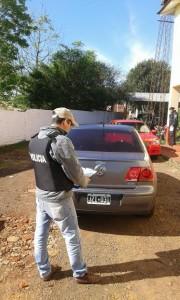 Secuestraron un vehículo adulterado y detuvieron a su conductor en Jardín América