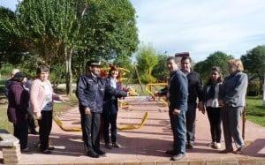 Arroyo del Medio también cuenta con una plaza saludable