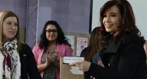 """Cristina: """"Los argentinos pueden votar con mucha tranquilidad"""""""