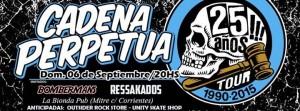 Cadena Perpetua llega a Posadas para festejar sus 25 años